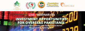 Webinar on Investment Opportunities for Overseas Pakistanis